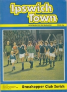 Ipswich Town FC - Grasshoppers Zürich, 7.11. 1979, UEFA Cup, Portman Road Stadium, Official Programme